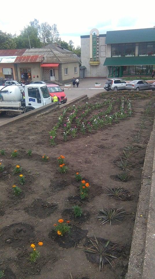 Unui oraş european îi stă bine înconjurat de flori...