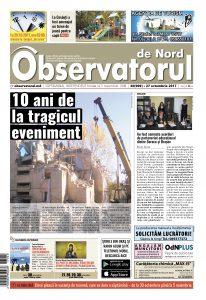 """Pagina ziarului """"Observatorul de Nord"""""""