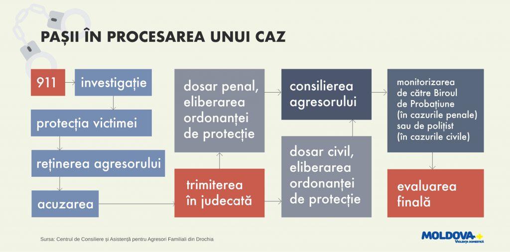 Infografic pasii in procesarea unui caz