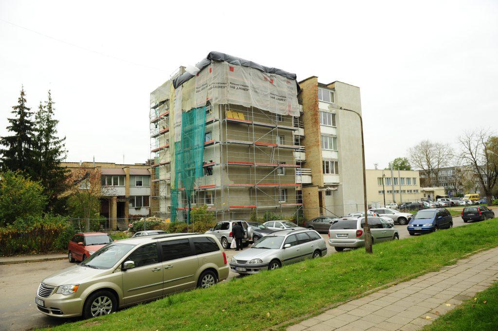 Trakai, bloc locativ în proces de renovare