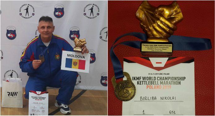 Nicolai Bîrliba are 58 de ani și este originar din orașul Fălești. Sportivul este halterofil de performanță cu 34 de ani de carieră.